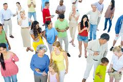 Large Group of People with Devices Royalty Free Stock Images