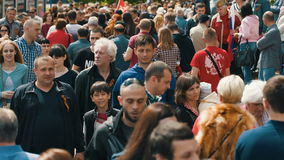 Large Group of People stock footage