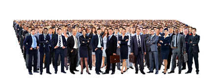 Large group of people full length Royalty Free Stock Photography
