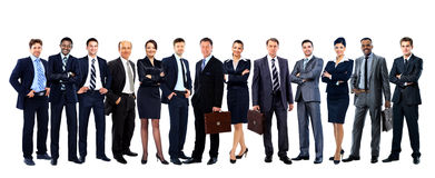 Large group of people full length Royalty Free Stock Images