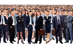Large group of people full Royalty Free Stock Photos