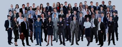 Business people group. Isolated over white background Stock Photo
