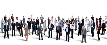 Large group of people full length isolated on white Stock Photography