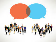 A large group of people gather design. A large group of business people gather together icon design stock illustration