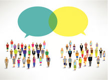 A large group of people gather design. A large group of people gather together icon design royalty free illustration