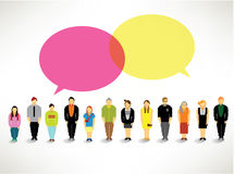 A large group of people gather design. A large group of people gather together icon design stock illustration