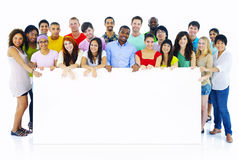 Large Group People Holding Board Concept Royalty Free Stock Photo