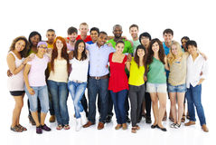 Large Group of People Holding Hand Stock Photography