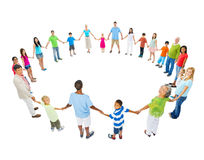 Large Group of People Holding Hand Stock Photos