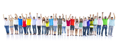 Large Group of People Holding Hand Concept Royalty Free Stock Photography