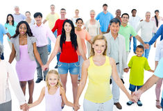 Large Group People Holding Hand Concept Stock Photo