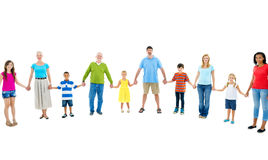Large Group People Holding Hand Friendship Concept.  Royalty Free Stock Photos