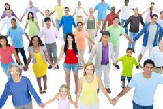 Large Group of People Holding Hands Stock Photography