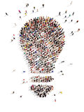 Large group of people with Ideas