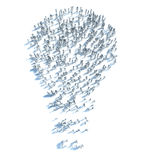 Large group of people with Ideas and a few moving to the light Royalty Free Stock Images
