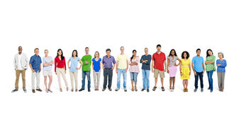 Large group of people. Large group of multi-ethnic people Stock Image