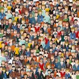 Large group of people. Seamless background. Business people, teamwork concept. Flat vector. Illustration stock illustration
