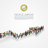 Large group people shape arrow Royalty Free Stock Image