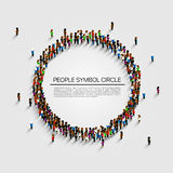Large group of people in the shape of circle. Vector illustration stock illustration