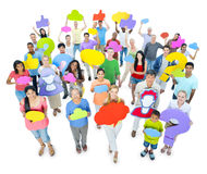 Large Group People Sharing Ideas Concept.  Royalty Free Stock Photos