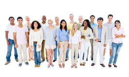 Large Group of People Smiling Royalty Free Stock Image