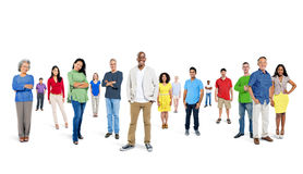 Large Group of People Smiling Royalty Free Stock Images