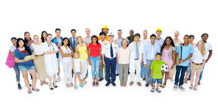 Large Group of People Smiling Stock Photo