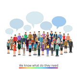 Large group of people Royalty Free Stock Photography