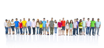 Large Group of People Standing Stock Photos