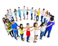 Large Group of People Standing Circle Teamwork Concept Royalty Free Stock Photo