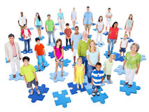 Large Group People Standing Togetherness Concept Stock Photos