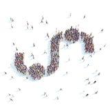 Large group of people symbolizing people. Stock Photos