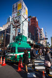 Large group of people walking to the Asakusa Temple for the New Stock Photography