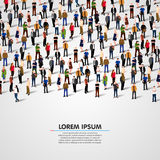Large group of people. royalty free illustration