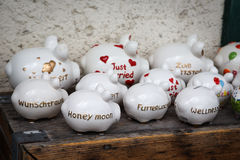 Large group of piggy banks Royalty Free Stock Photo