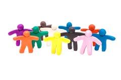 Large group of  plasticine humans Stock Image