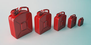 Large group of red canister. Stock Photo