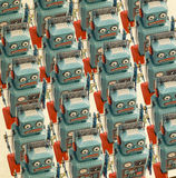 Large group. A large group of retro robots Stock Image