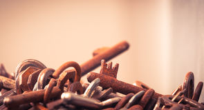 A large group of rusty keys Royalty Free Stock Photography