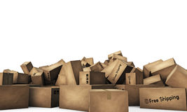 Large group of shipping boxes Stock Photography