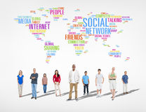 Large group of Social Networking People Royalty Free Stock Image