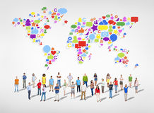 Large Group of Social Networking People Royalty Free Stock Images