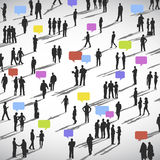 Large group of Social Networking People Vector. Large group of Social Networking People stock illustration