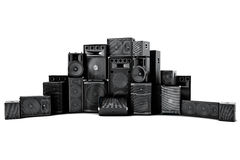 Large group of speakers in a row Royalty Free Stock Image