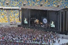 Kasabian rock band performance in Kiev Stock Photo