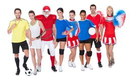 Large group of sports people Stock Images