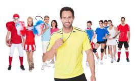 Large group of sports people Stock Photo