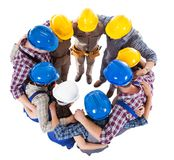 Large group standing in circle Stock Image