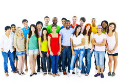 Large Group of Student Community People Concept stock images