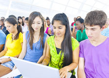 Large Group of Student in Conference Room Royalty Free Stock Photos
